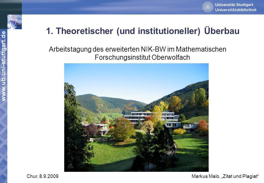 1. Theoretischer (und institutioneller) Überbau