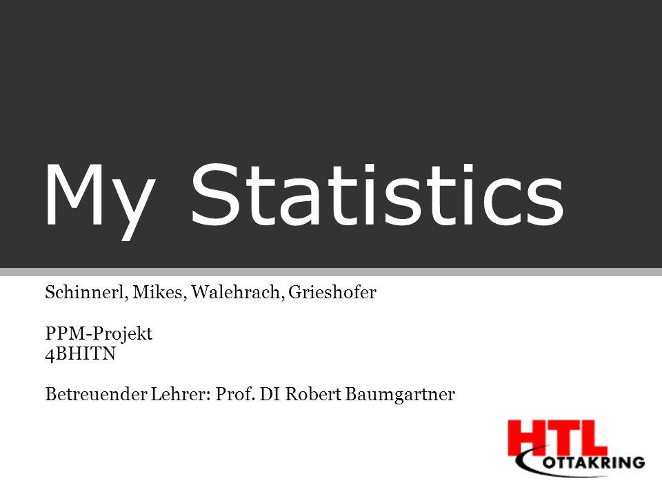My Statistics Schinnerl, Mikes, Walehrach, Grieshofer PPM-Projekt