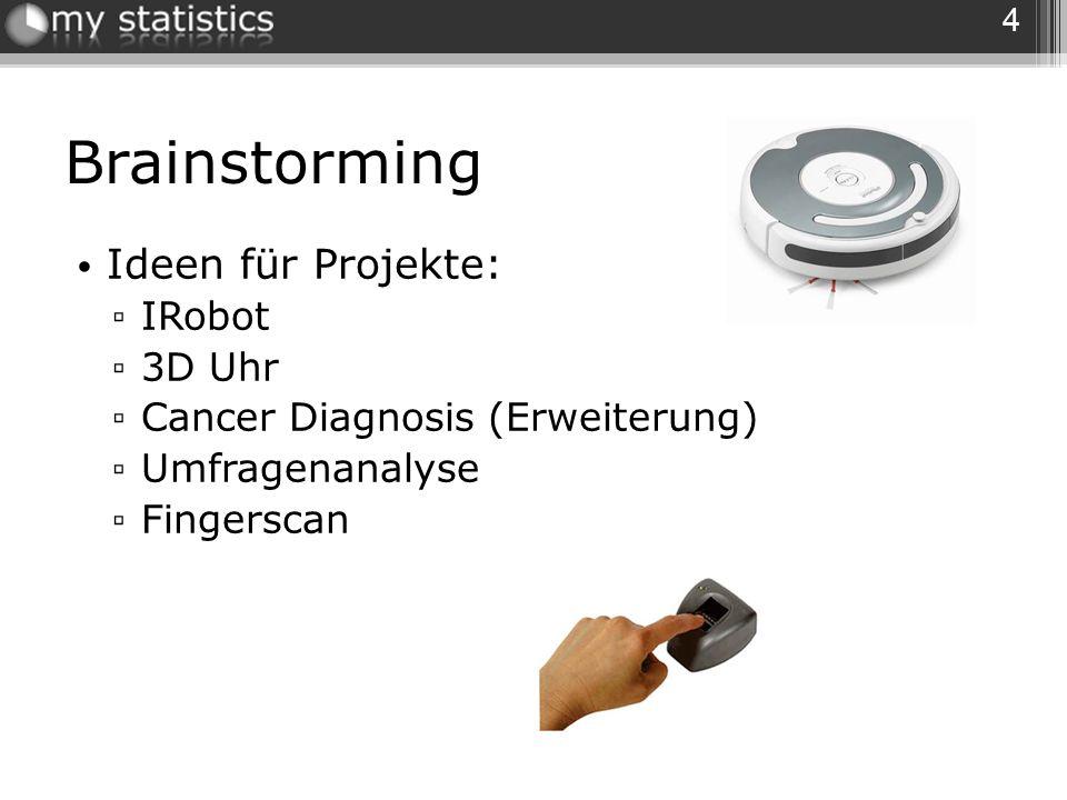Brainstorming Ideen für Projekte: IRobot 3D Uhr