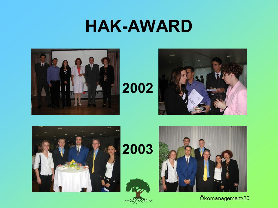 HAK-AWARD 2002 2003 Ökomanagement/20