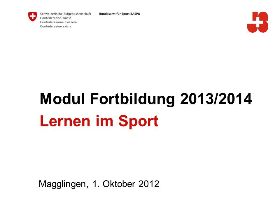 Modul Fortbildung 2013/2014 Lernen im Sport A