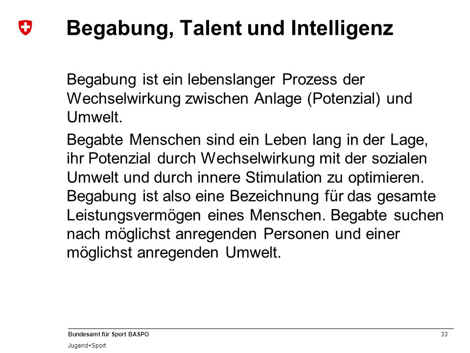 Begabung, Talent und Intelligenz
