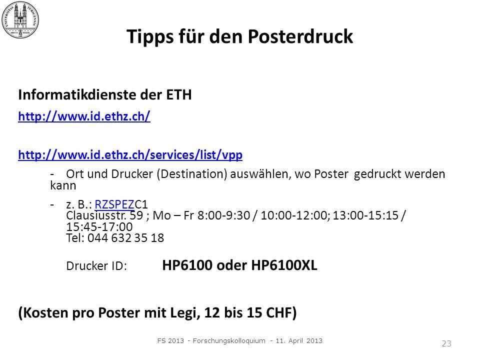 Tipps für den Posterdruck
