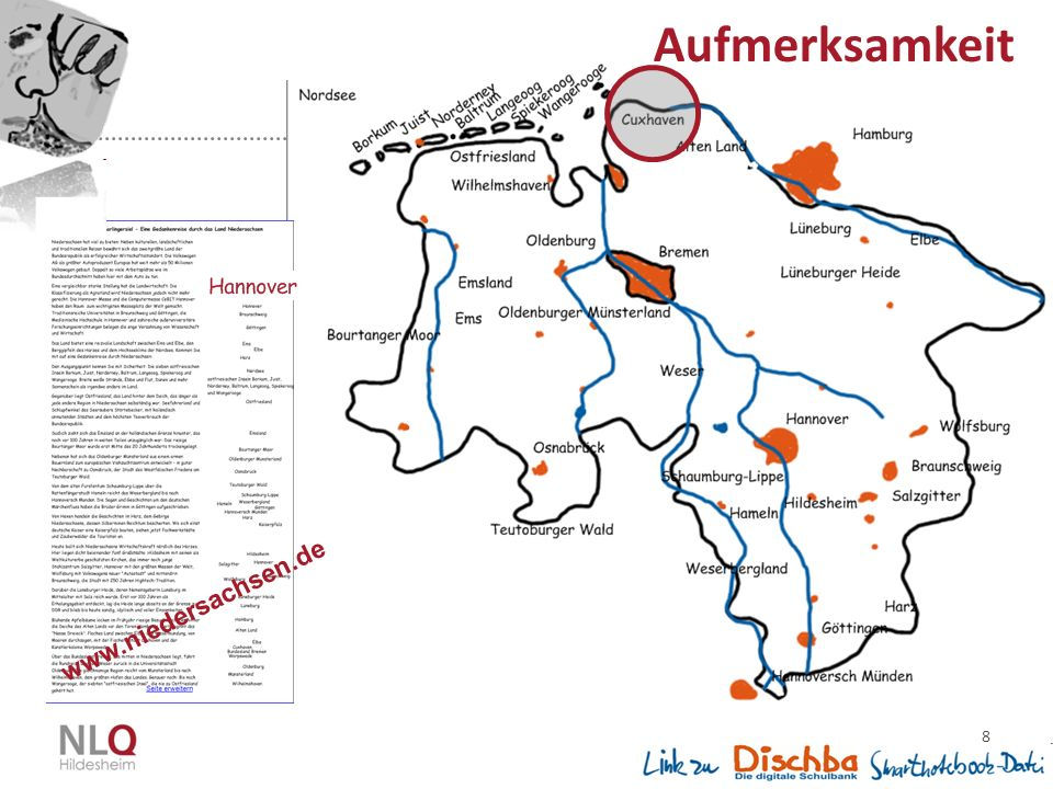 Aufmerksamkeit www.niedersachsen.de