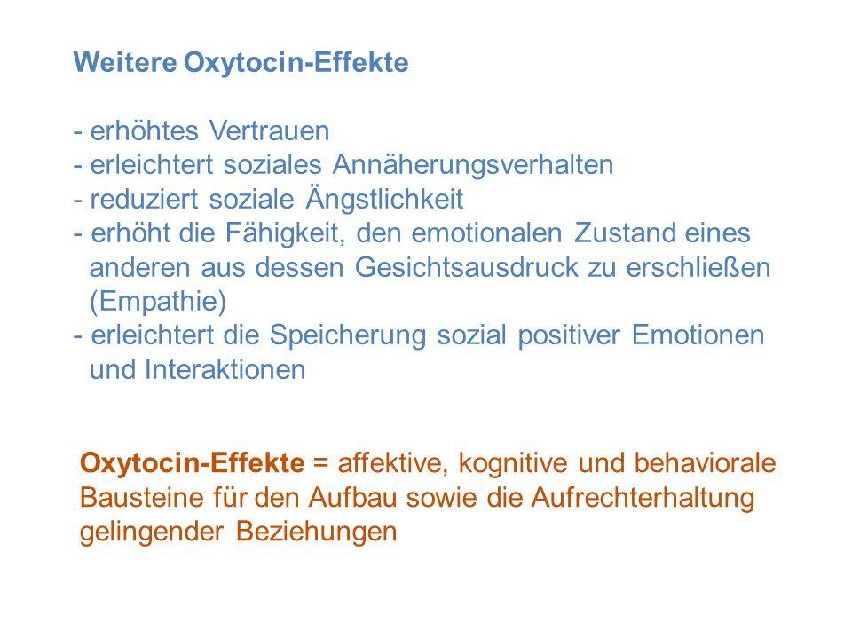 Weitere Oxytocin-Effekte