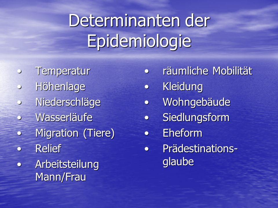 Determinanten der Epidemiologie