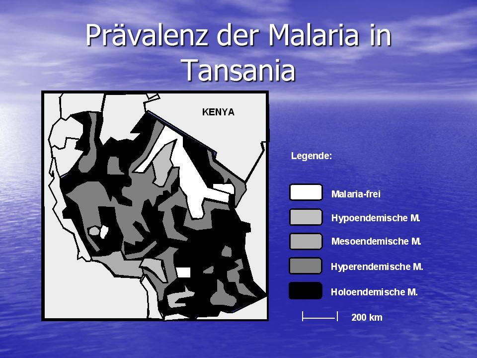 Prävalenz der Malaria in Tansania