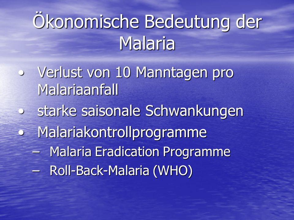 Ökonomische Bedeutung der Malaria
