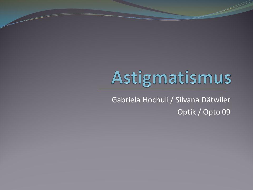 Gabriela Hochuli / Silvana Dätwiler Optik / Opto 09