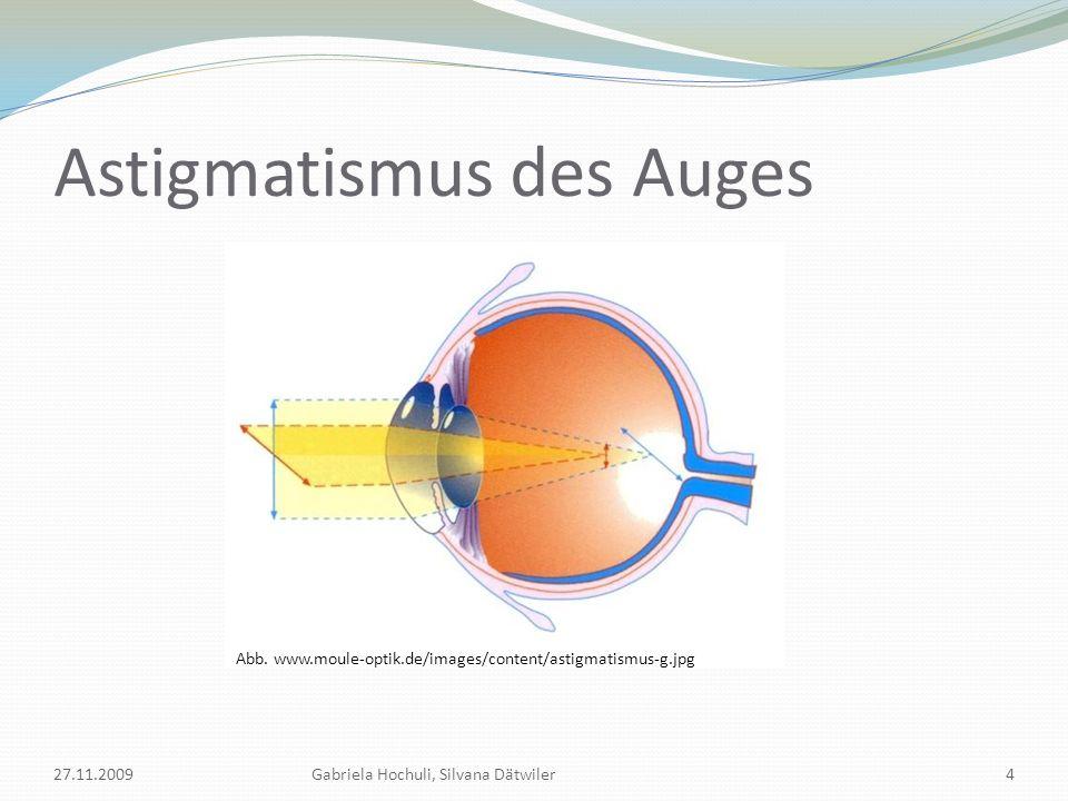 Astigmatismus des Auges