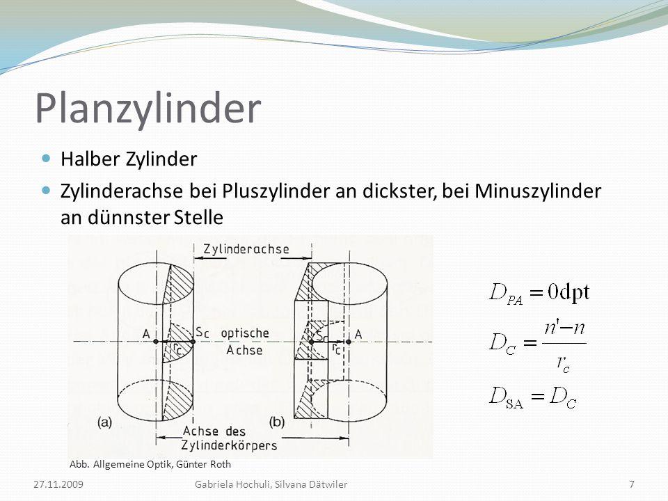 Planzylinder Halber Zylinder