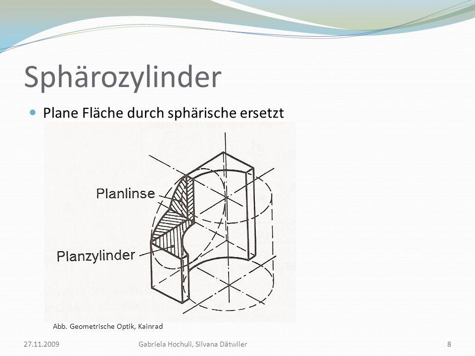 Sphärozylinder Plane Fläche durch sphärische ersetzt