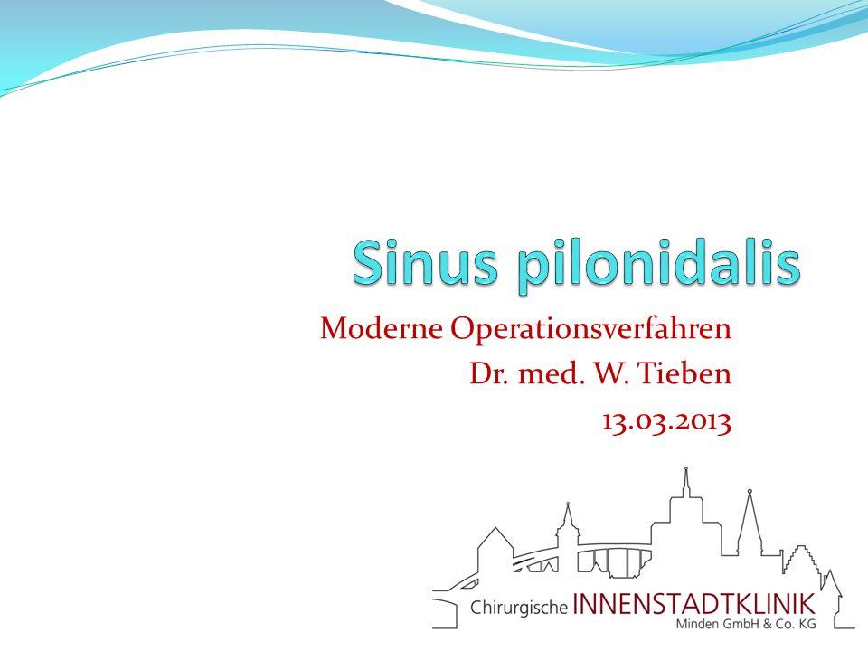 Moderne Operationsverfahren Dr. med. W. Tieben 13.03.2013