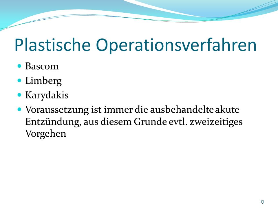 Plastische Operationsverfahren