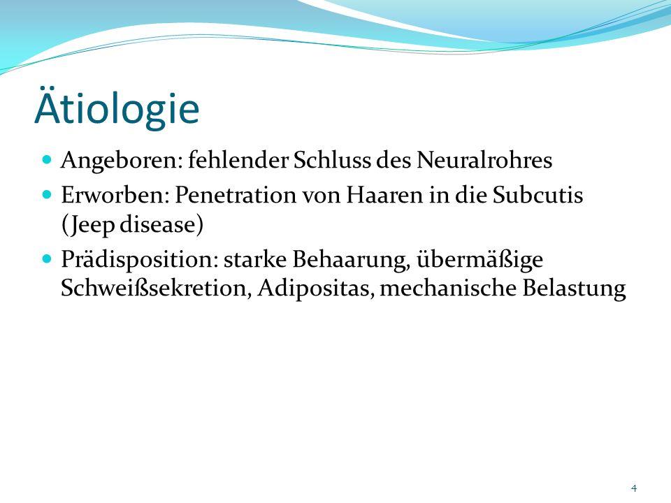 Ätiologie Angeboren: fehlender Schluss des Neuralrohres