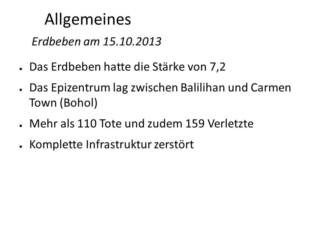 Allgemeines Erdbeben am 15.10.2013