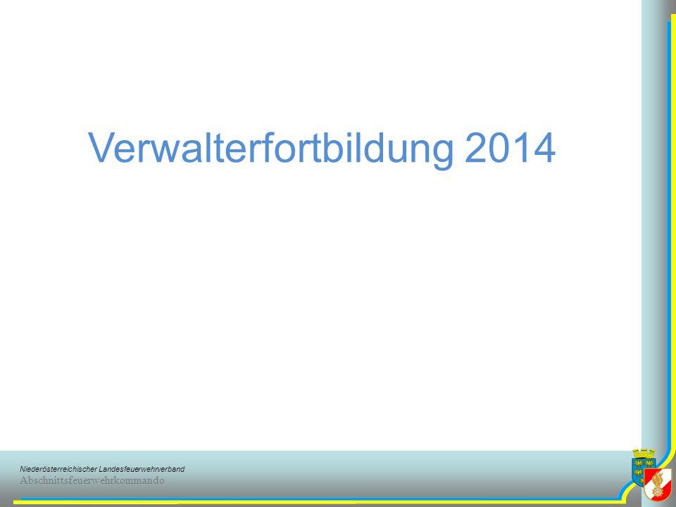 Verwalterfortbildung 2014