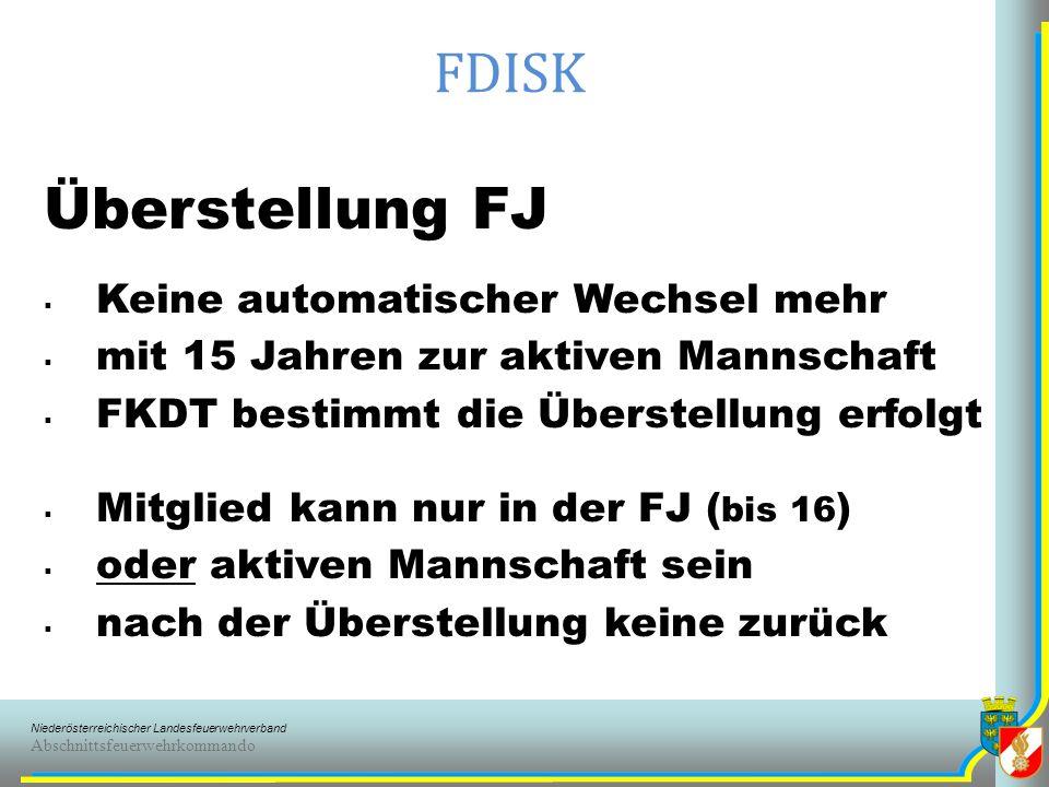 FDISK Überstellung FJ Keine automatischer Wechsel mehr