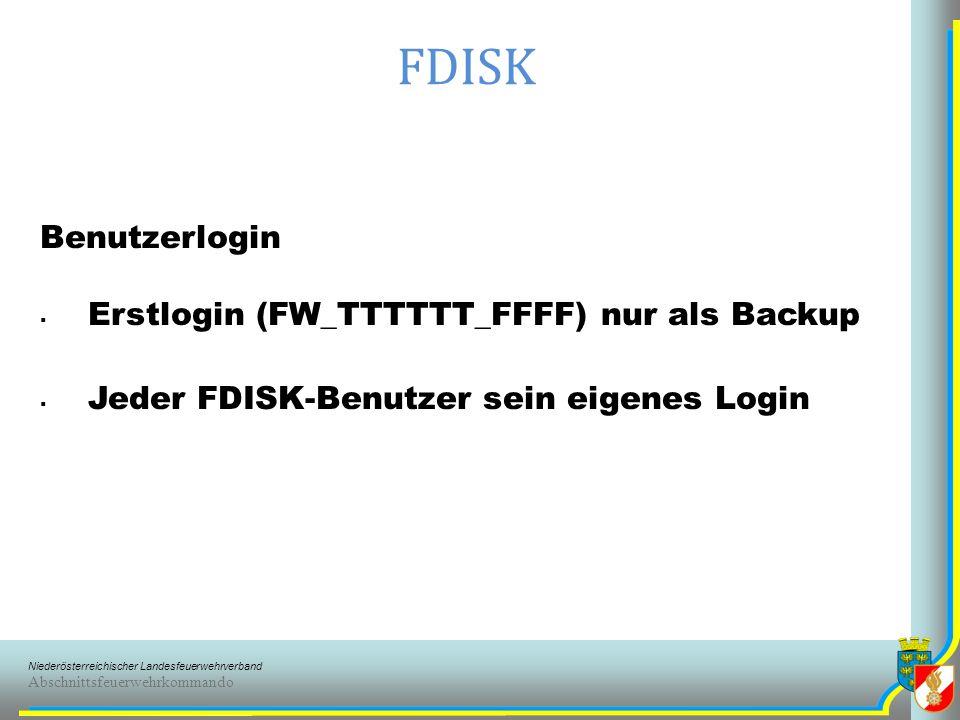 FDISK Benutzerlogin Erstlogin (FW_TTTTTT_FFFF) nur als Backup