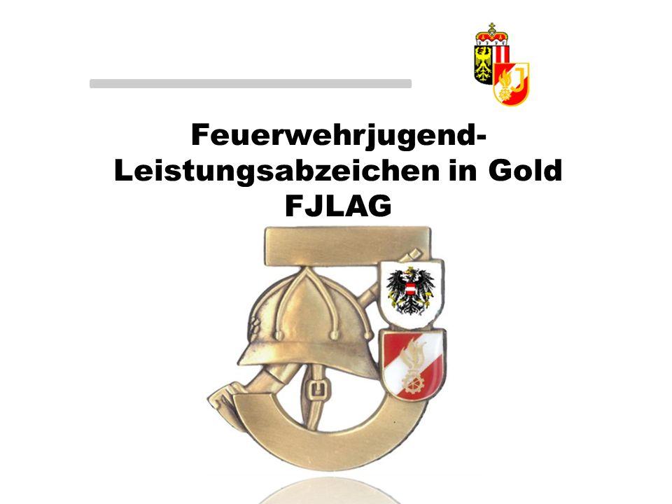Feuerwehrjugend- Leistungsabzeichen in Gold FJLAG