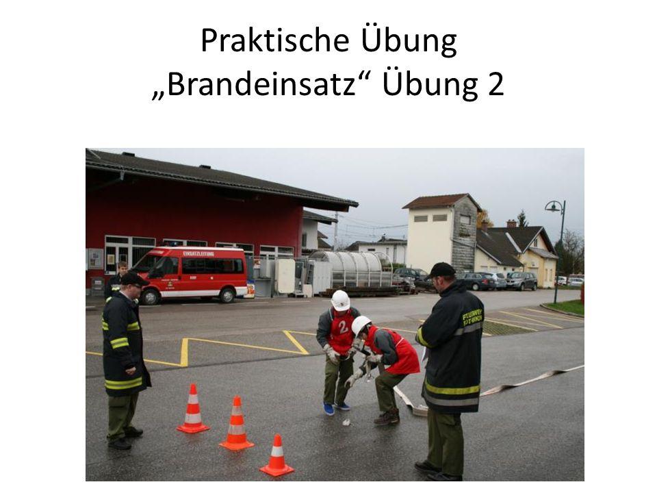 """Praktische Übung """"Brandeinsatz Übung 2"""