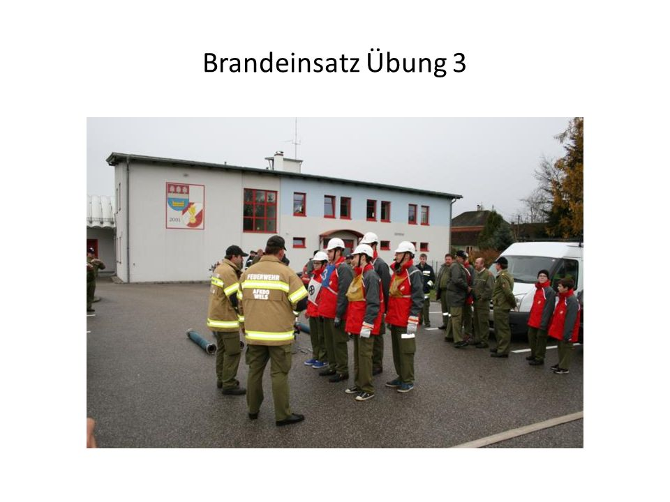 Brandeinsatz Übung 3