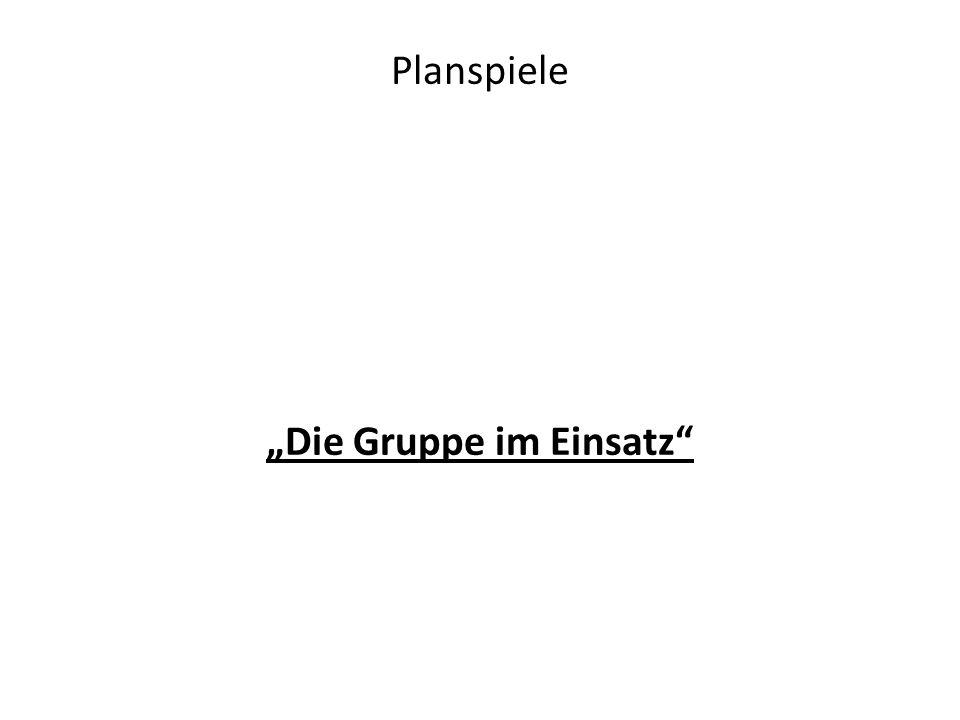 """Planspiele """"Die Gruppe im Einsatz"""