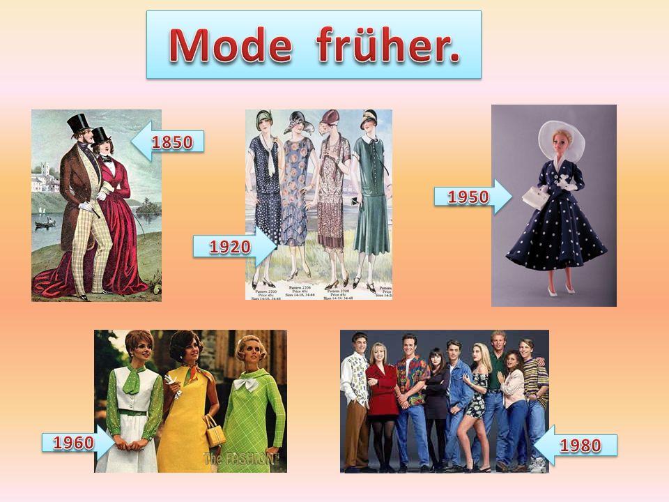 Mode früher. 1850 1950 1920 1960 1980