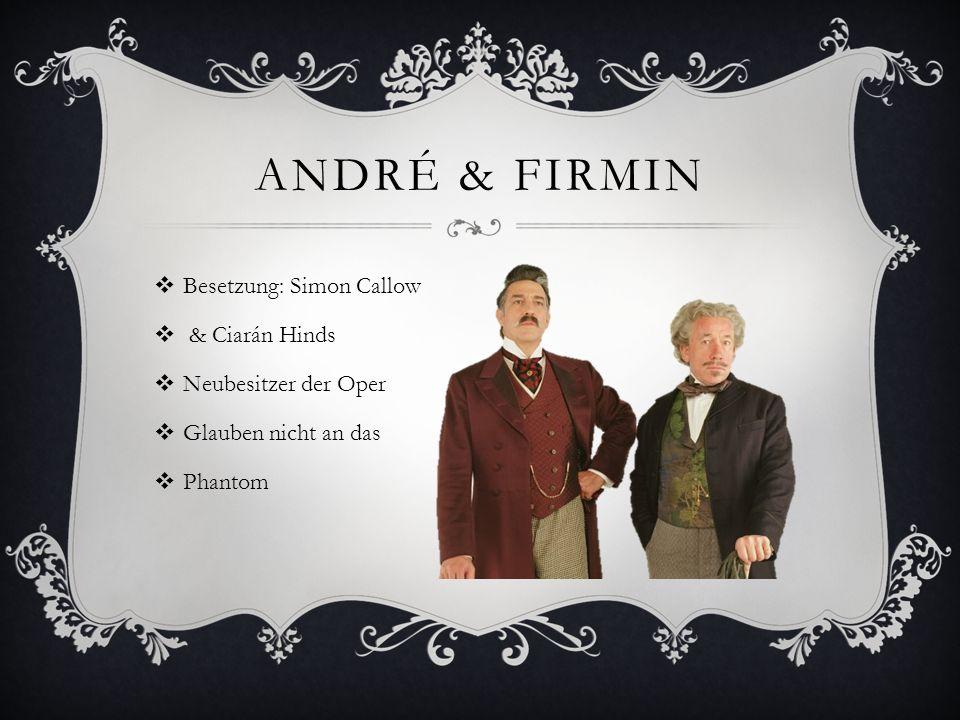 André & Firmin Besetzung: Simon Callow & Ciarán Hinds