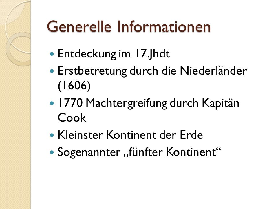 Generelle Informationen