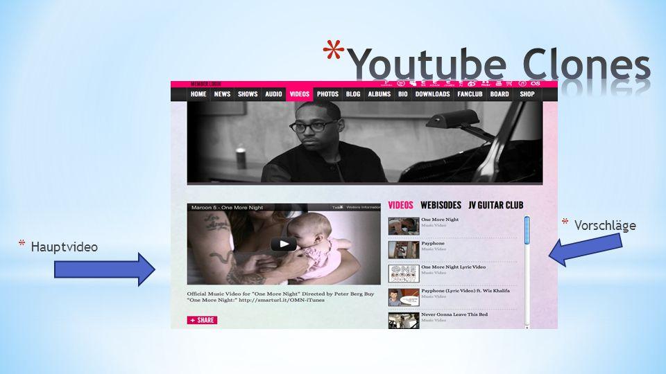 Youtube Clones Vorschläge Hauptvideo