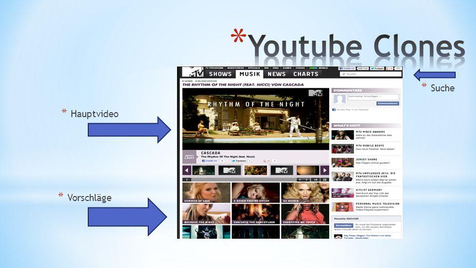 Youtube Clones Suche Hauptvideo Vorschläge