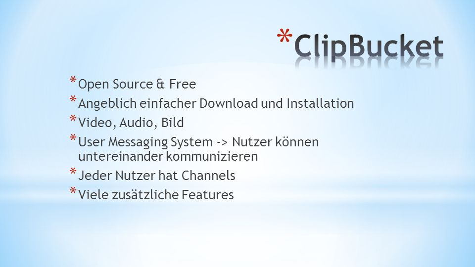 ClipBucket Open Source & Free