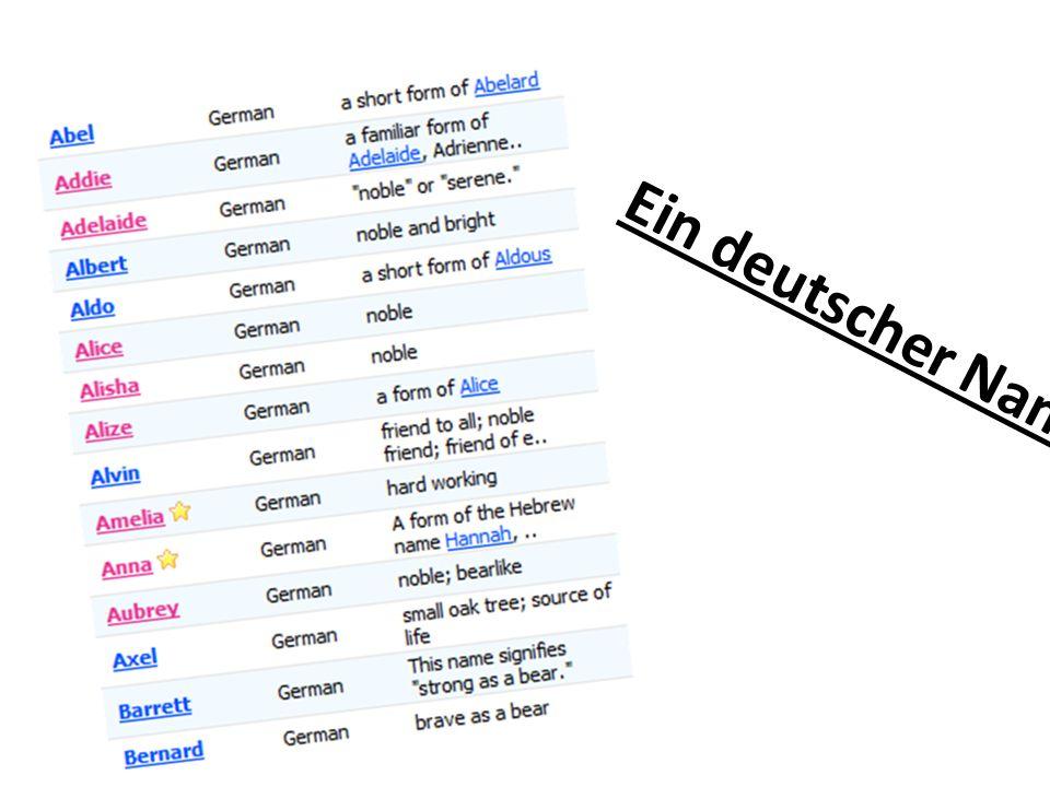 Ein deutscher Name