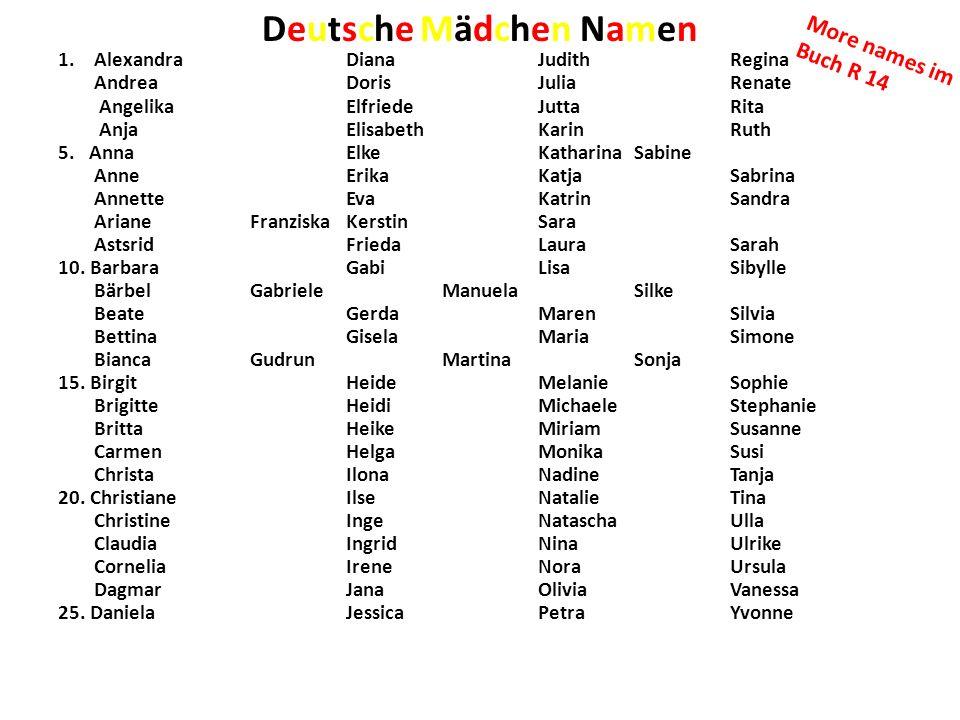 Deutsche Mädchen Namen