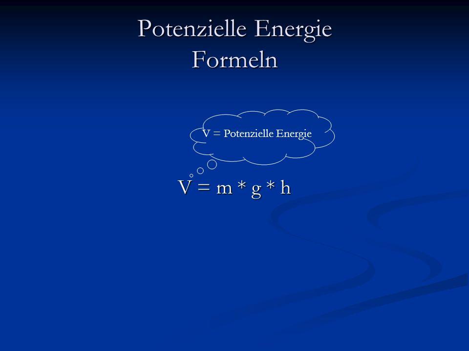 Potenzielle Energie Formeln