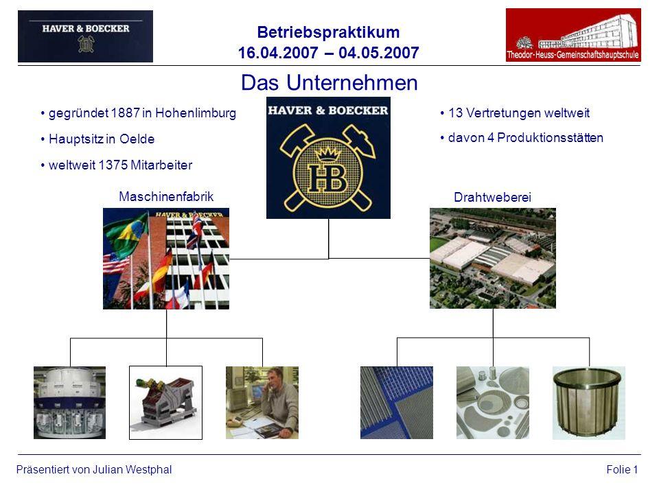 Das Unternehmen gegründet 1887 in Hohenlimburg Hauptsitz in Oelde