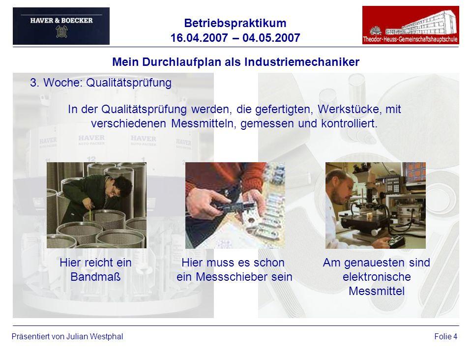 Mein Durchlaufplan als Industriemechaniker
