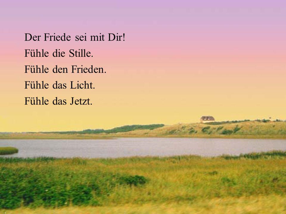 Der Friede sei mit Dir! Fühle die Stille. Fühle den Frieden. Fühle das Licht. Fühle das Jetzt.
