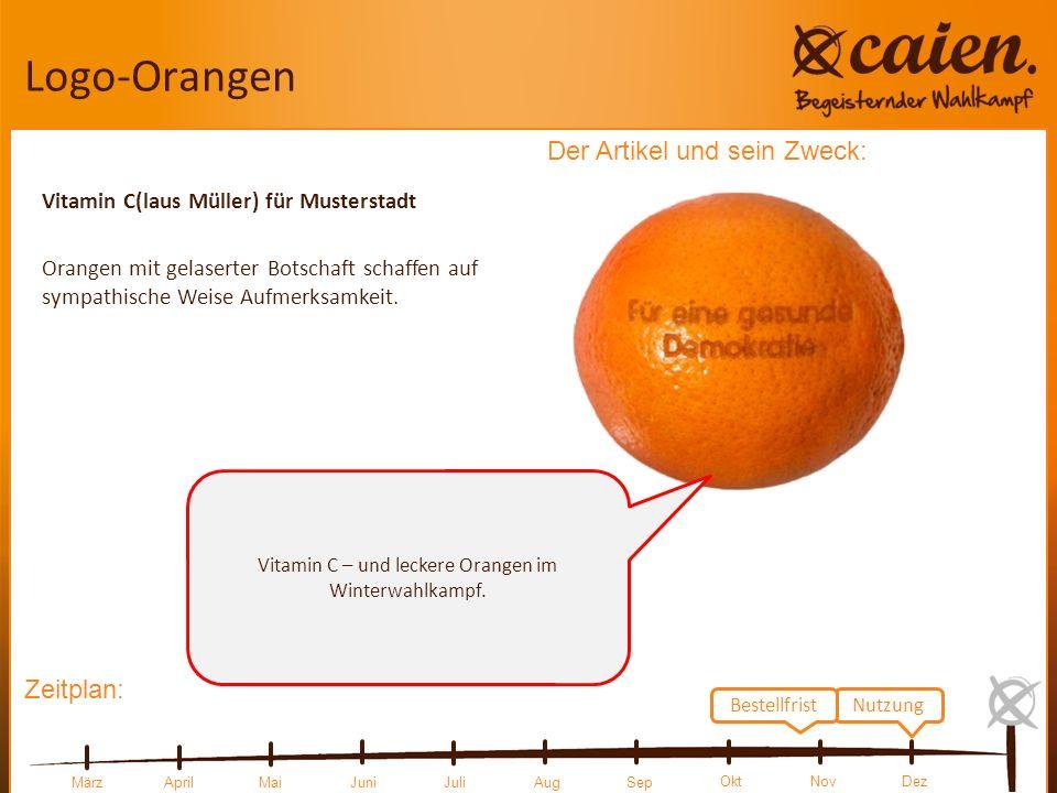 Vitamin C – und leckere Orangen im Winterwahlkampf.