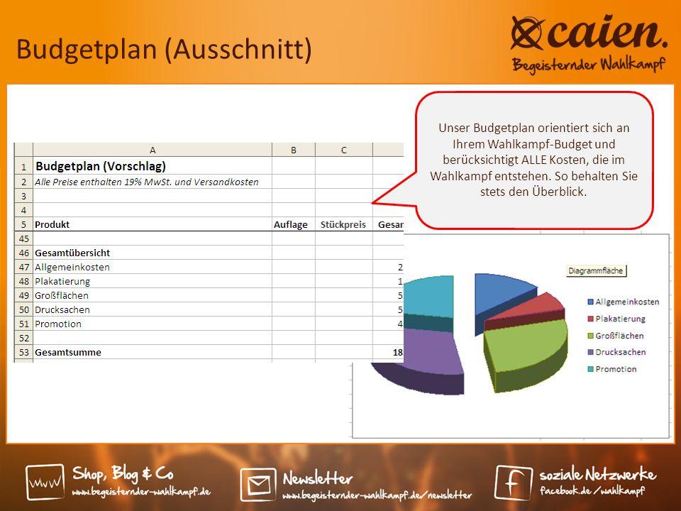 Budgetplan (Ausschnitt)