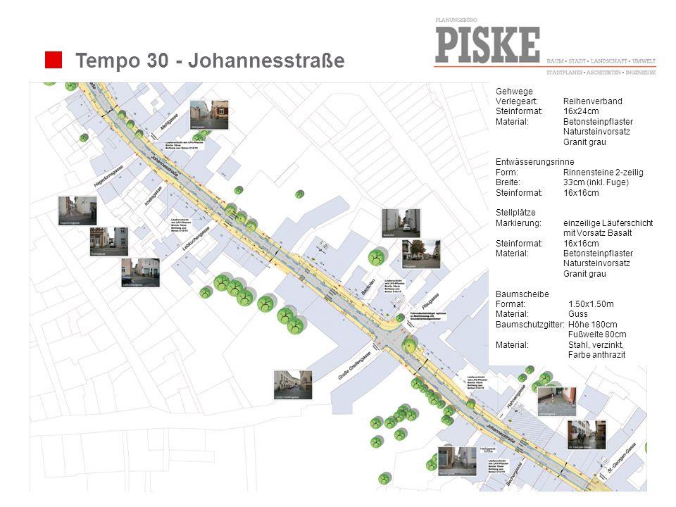 Tempo 30 - Johannesstraße