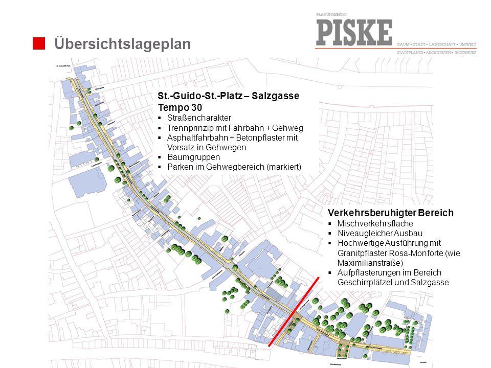 Übersichtslageplan St.-Guido-St.-Platz – Salzgasse Tempo 30