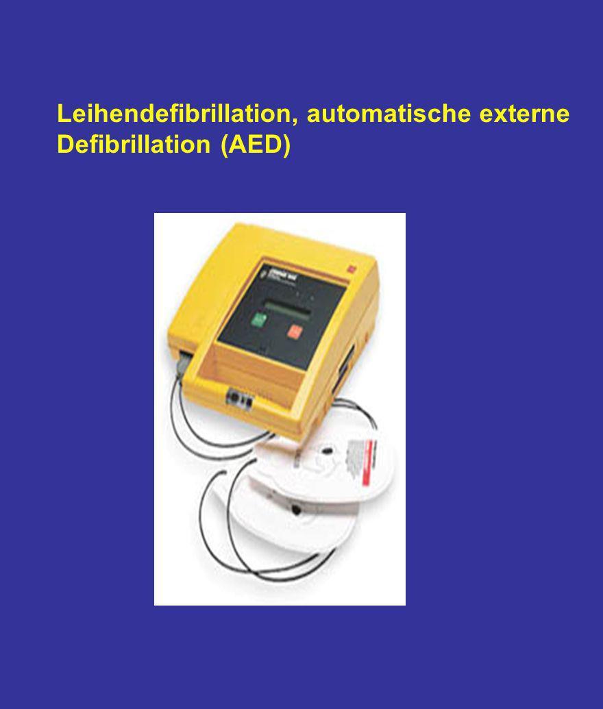 Leihendefibrillation, automatische externe
