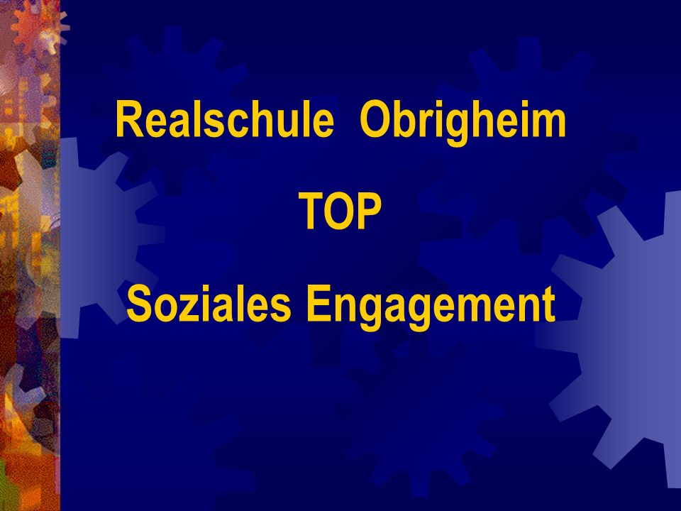 Realschule Obrigheim TOP Soziales Engagement