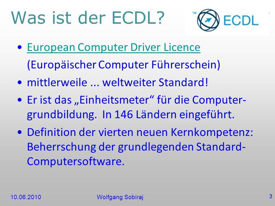 Was ist der ECDL European Computer Driver Licence