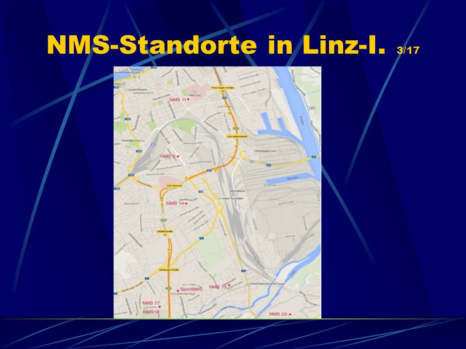 NMS-Standorte in Linz-I. 3/17