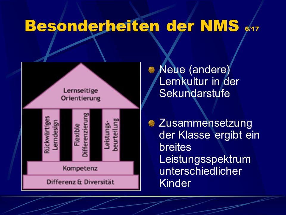 Besonderheiten der NMS 6/17
