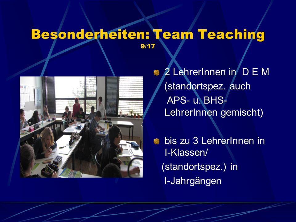 Besonderheiten: Team Teaching 9/17