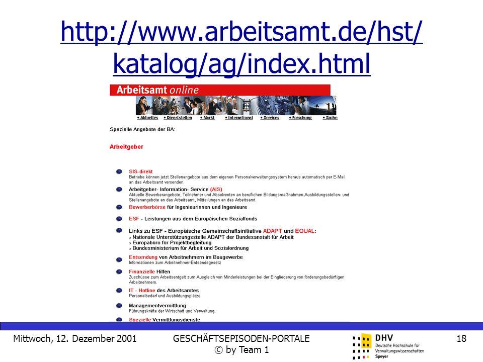 http://www.arbeitsamt.de/hst/ katalog/ag/index.html